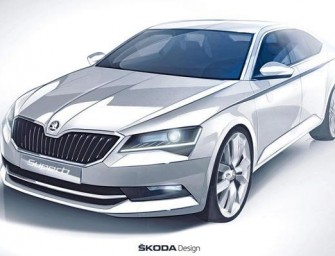New Skoda Superb Sketch revealed; Set to Feature a Sharper Design